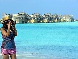 No te cansarás de haacer fotos en Maldivas