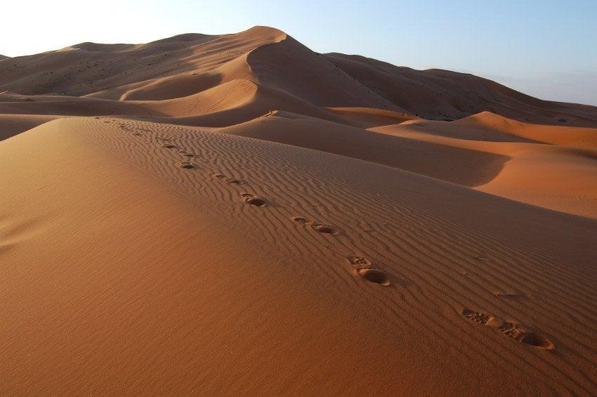 Dunas de Erg Chebbi en el Sahara