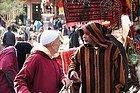 Men talking in Marrakech's Souk