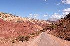 Route entre la Kasbah de Télouet et Aït Ben Haddou