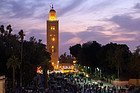 Koutoubia Mosque at dusk