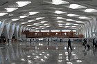 All'interno dell'aeroporto di Marrakech-Menara