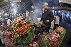 Food stand in Jemaa el Fna