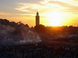 Tiempo en Marrakech, atardeciendo