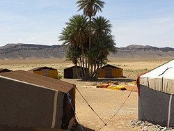 Campamento en el desierto de Zagora