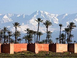 View of the High Atlas from Marrakech