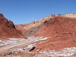Camino entre la Kasbah Telouet y Ait Ben Haddou