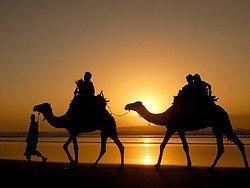 En camello por la playa de Essaouira