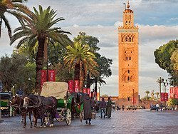 Calesse vicino alla Koutoubia