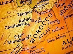 Map of Morrocco