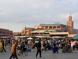 Lively atmosphere in Marrakech