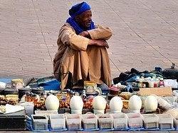 Vendedor en Jamaa el Fna