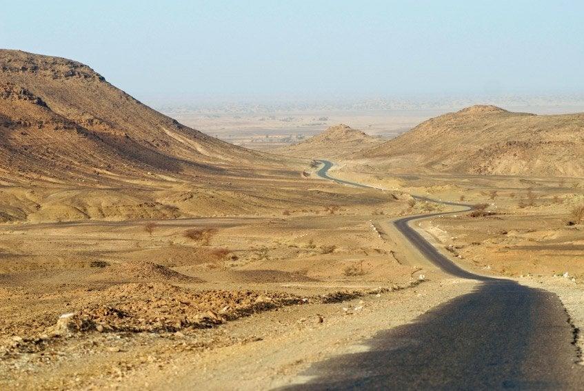 Carretera de camino a Zagora