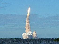 Lanzamiento del transbordador espacial
