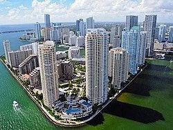 Vistas de Miami desde el helicóptero