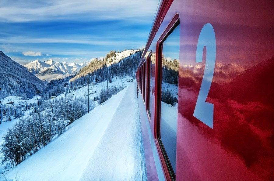 Recorriendo los Alpes en el Bernina Express