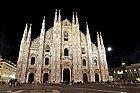 Milan Cathedral at nighttime