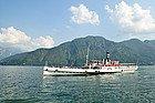 Lago de Como, barco de vapor