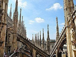 Milan Cathedral, rooftop terrace