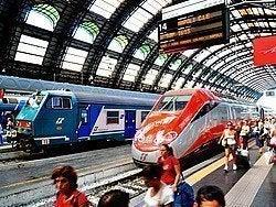 Llegando a Milán en tren