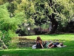 Parque Sempione, tomando un descanso