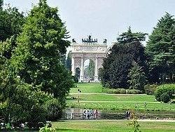 Parque Sempione y Arco della Pace