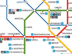 Plano de metro y trenes urbanos de Milán