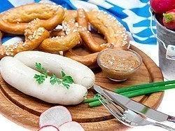 Platos típicos de Munich, salchicha weisswurst