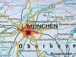 Llegar a Múnich, mapa