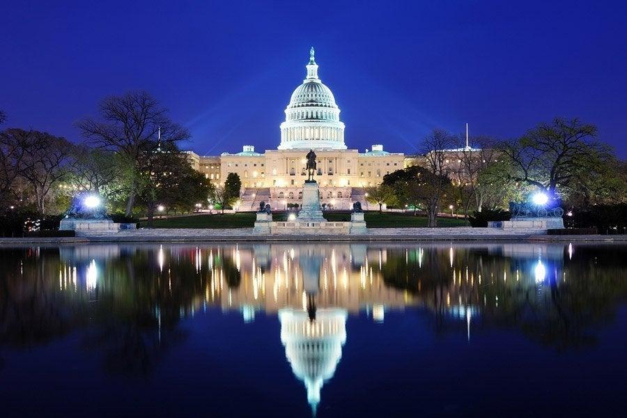 Capitolio al anochecer