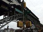 Metro de Nueva York pasando por Harlem
