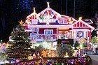 Casas decoradas para la Navidad