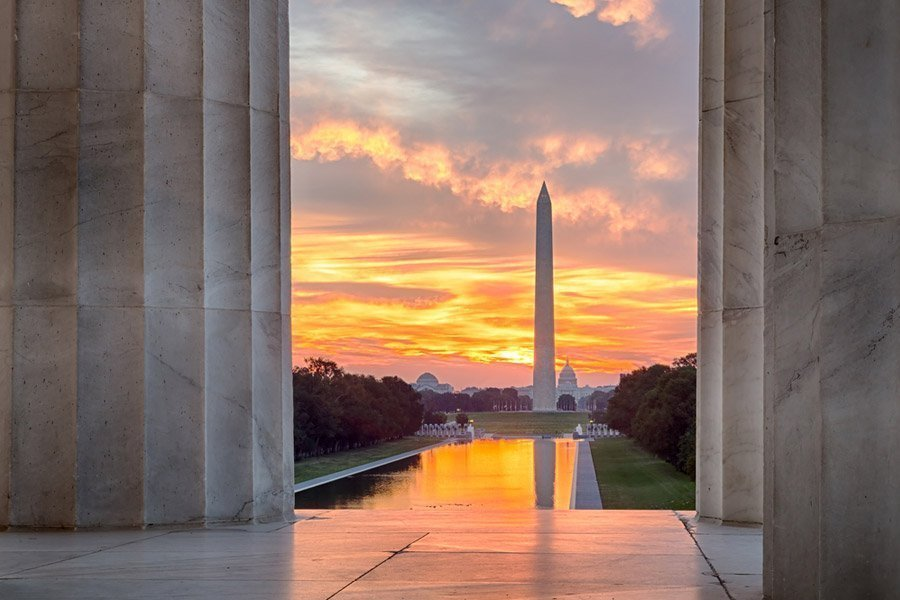 National Mall desde el Monumento a Lincoln