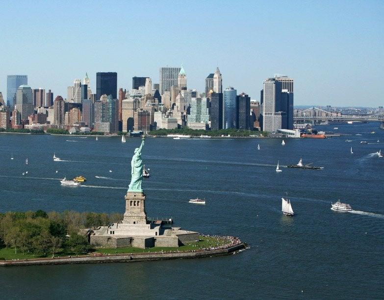 Manhattan desde el helicóptero
