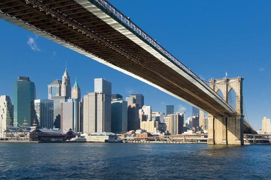Pasando por el puente de Brooklyn
