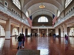Ellis Island, sala de registro