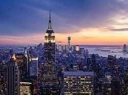 Empire State al anochecer