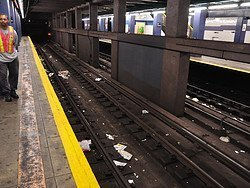Dirt in New York City's Subway