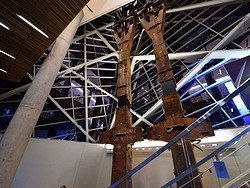 Museo del 11-S, columnas torres gemelas