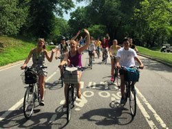 Discovering New York on bicycle