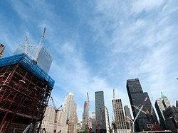 World Trade Center durante su reconstrucción