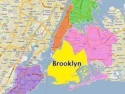 Situación de Brooklyn en Nueva York