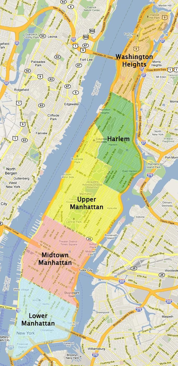 Maps Update 19711007 Mapa New York map of manhattan in miles – Mapa Manhattan New York