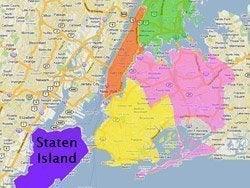Situación de Staten Island en Nueva York