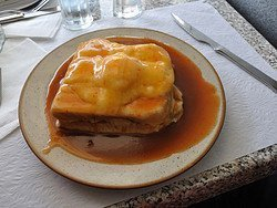 Francesinha, typical dish of Porto