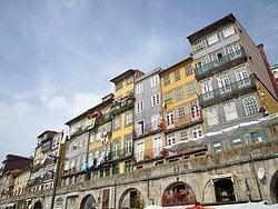 Casas en el barrio de Ribeira