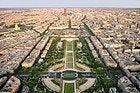 Champ de Mars vu de la Tour Eiffel