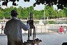 Jardines de las Tullerías, pintor
