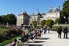 Palazzo di Lussemburgo in un giorno soleggiato