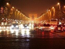 Paris by car, traffic jam